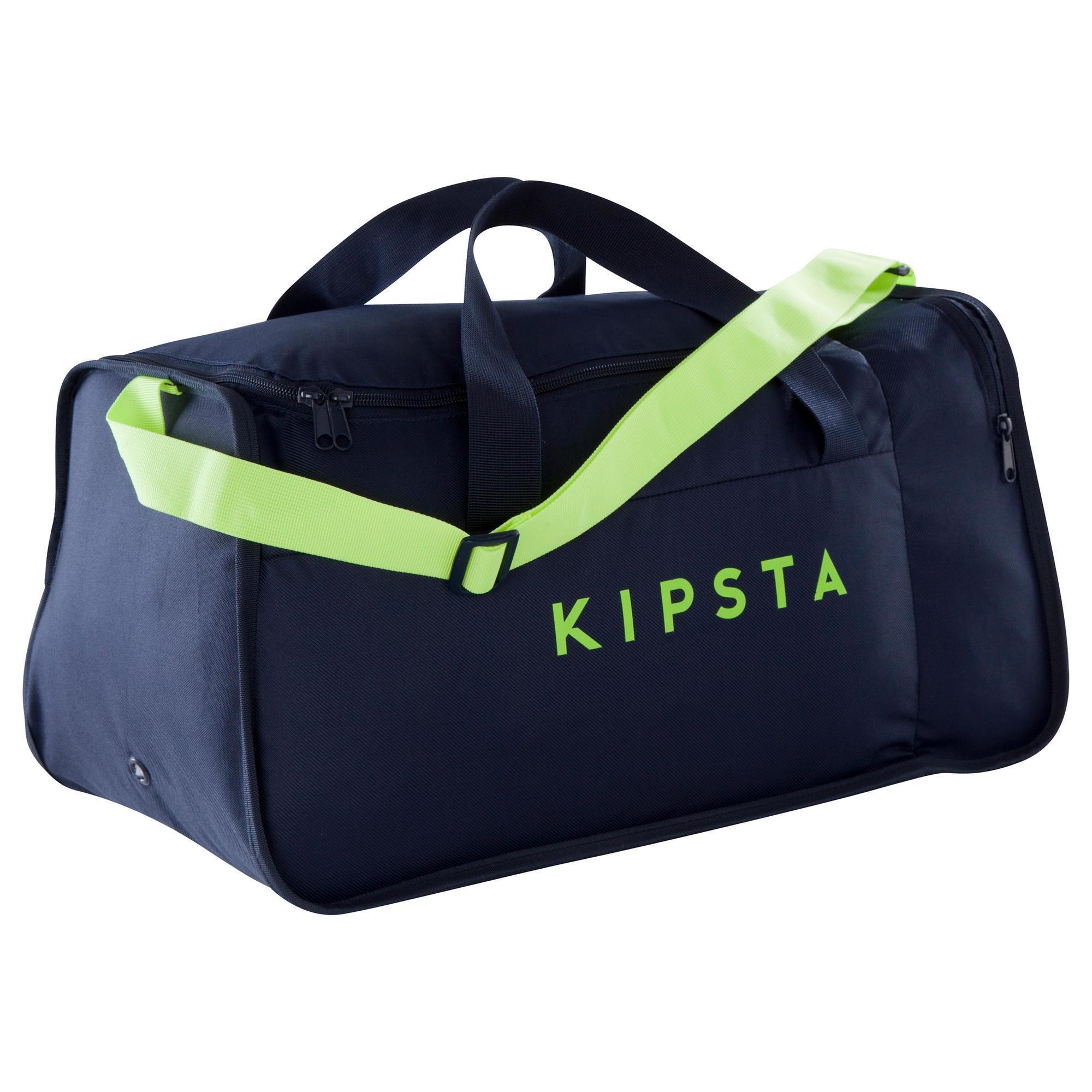 sac de sports collectifs kipocket 40 litres bleu jaune kipsta. Black Bedroom Furniture Sets. Home Design Ideas