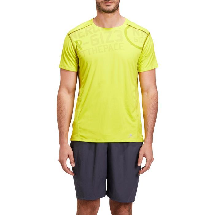 T-shirt fitness cardio homme noir imprimé FTS 120 - 1195355