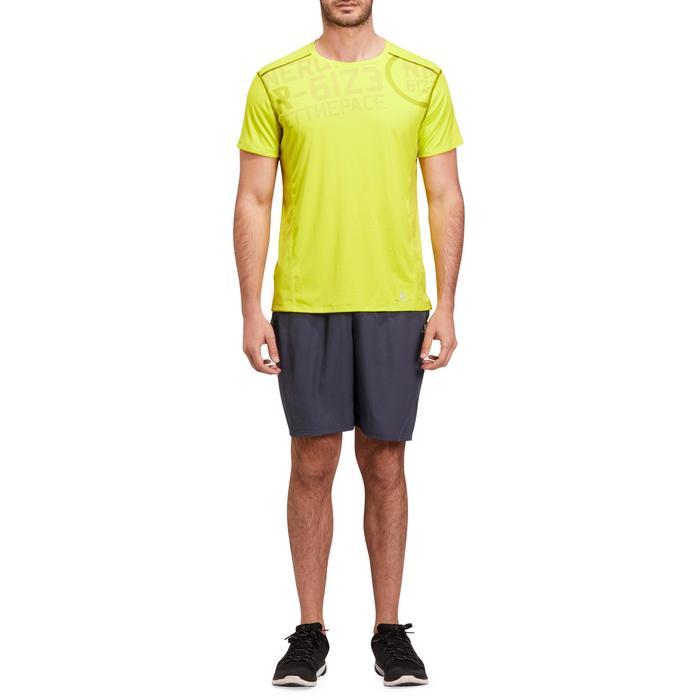 T-shirt fitness cardio homme noir imprimé FTS 120 - 1195363