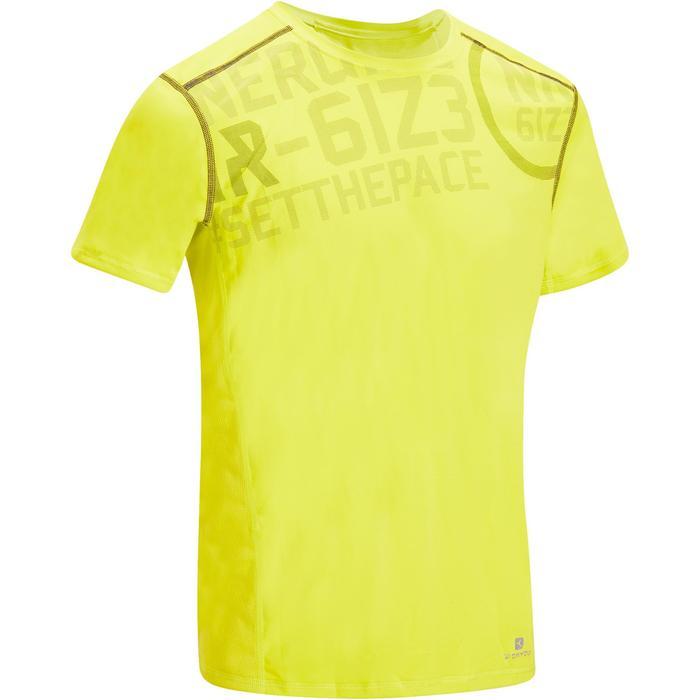 T-shirt fitness cardio homme noir imprimé FTS 120 - 1195366