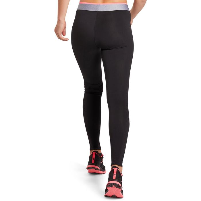 Leggings Cardio 100 Damen Fitness schwarz