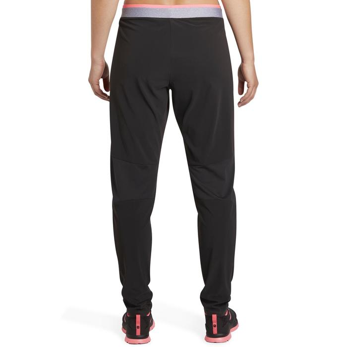 Pantalon regular fitness cardio-training femme noir 100 - 1195423