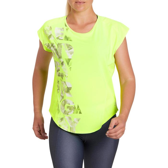 T-shirt loose fitness cardio femme avec imprimés 120 Domyos - 1195449