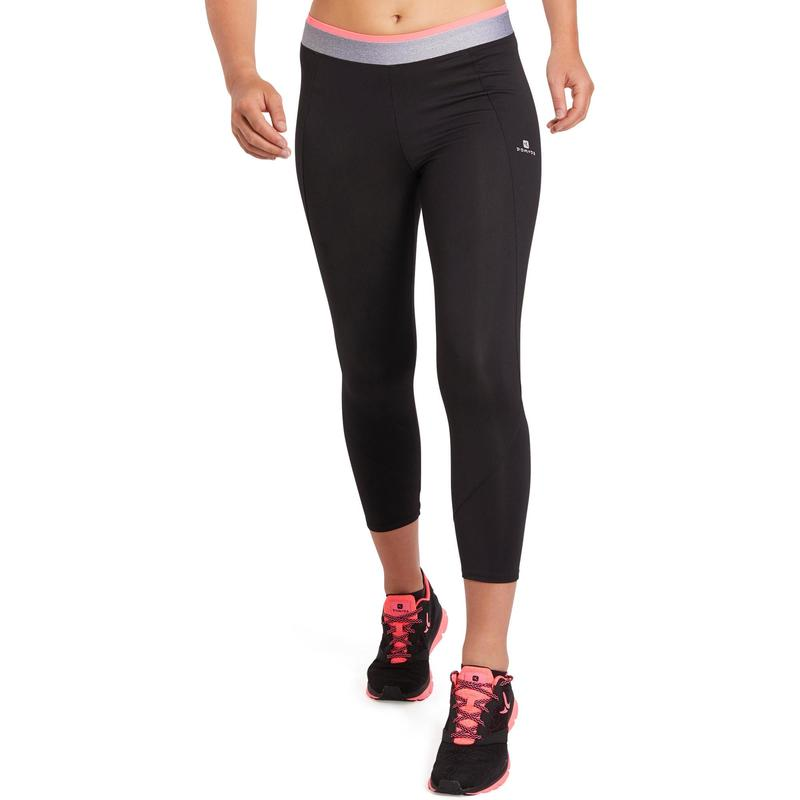 7cdda152d53ed 100 Women's Cardio Fitness 7/8 Leggings - Black | Domyos by Decathlon