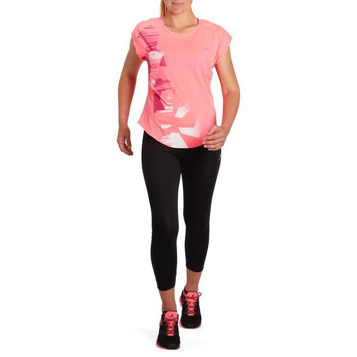 T-shirt loose fitness cardio femme avec imprimés 120 Domyos - 1195453