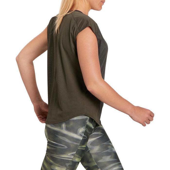 T-shirt loose fitness cardio femme avec imprimés 120 Domyos - 1195476
