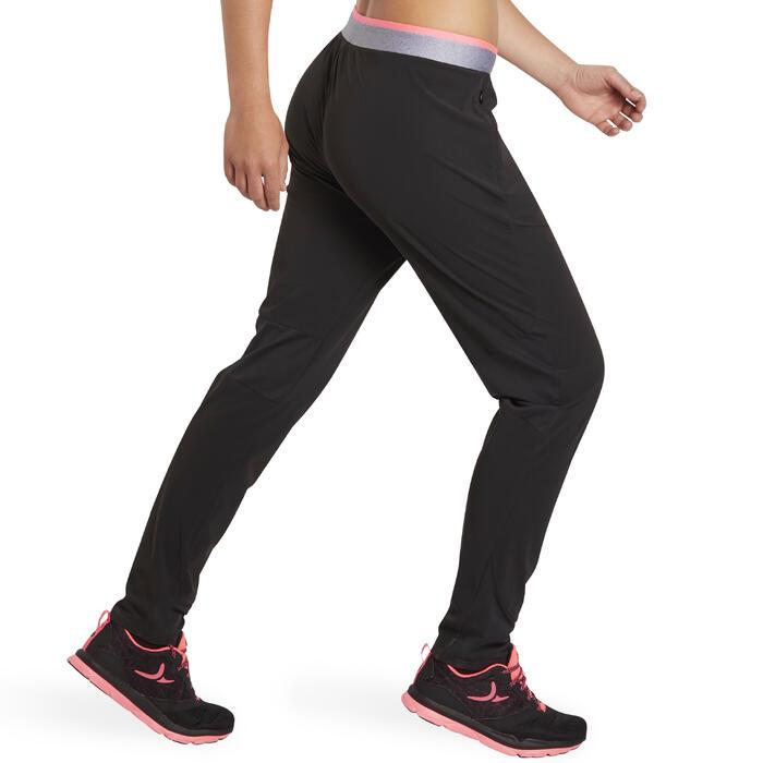 Pantalon regular fitness cardio-training femme noir 100 - 1195542
