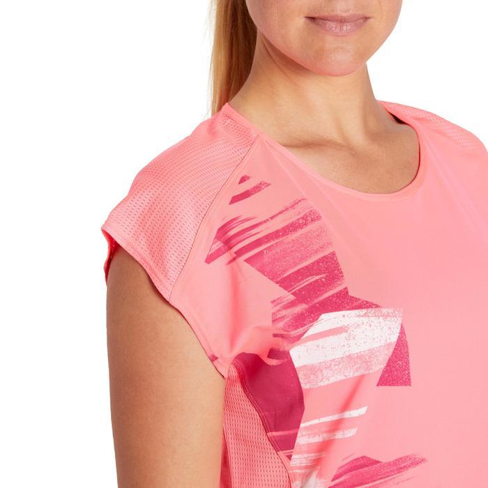 T-shirt loose fitness cardio femme avec imprimés 120 Domyos - 1195550