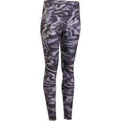 Cardiofitness legging voor dames zwart 100 Domyos