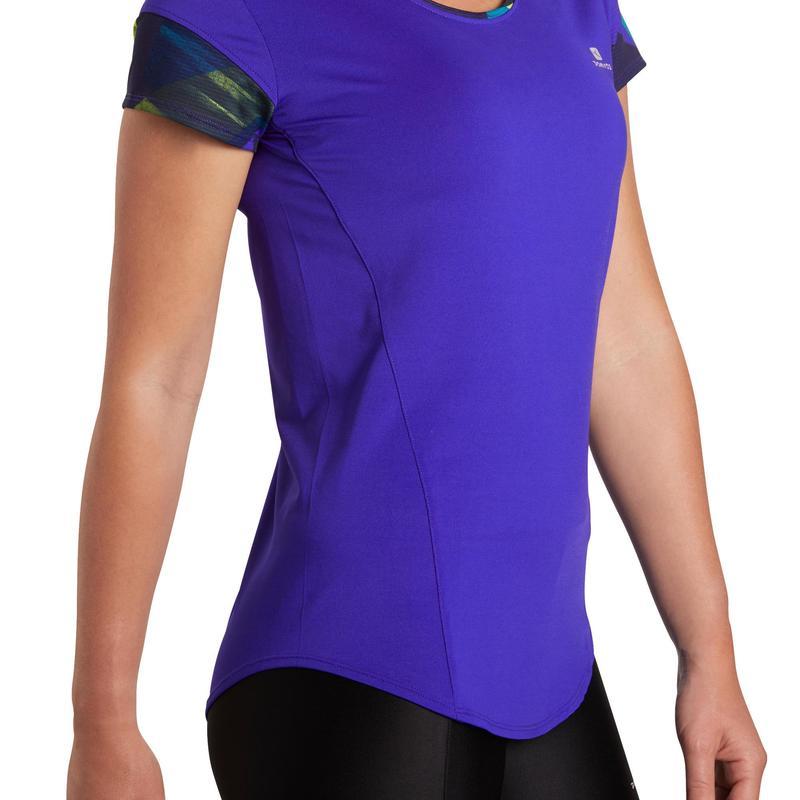 945ccef2f Camiseta feminina para fitness cardio 500 Domyos
