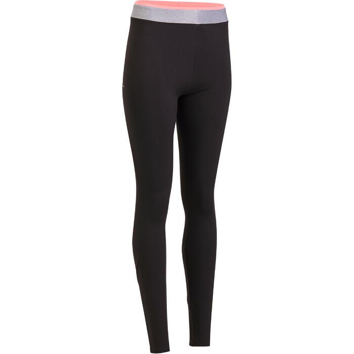 Leggings Cardio Fitness FTI 100 Damen schwarz