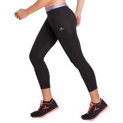 女款有氧運動7/8緊身褲FLE900-黑色