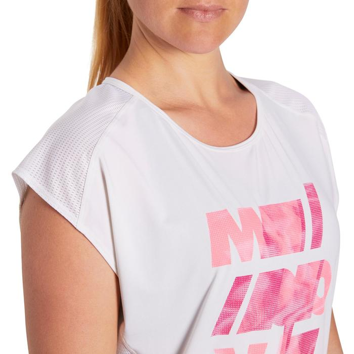 T-shirt loose fitness cardio femme avec imprimés 120 Domyos - 1195701