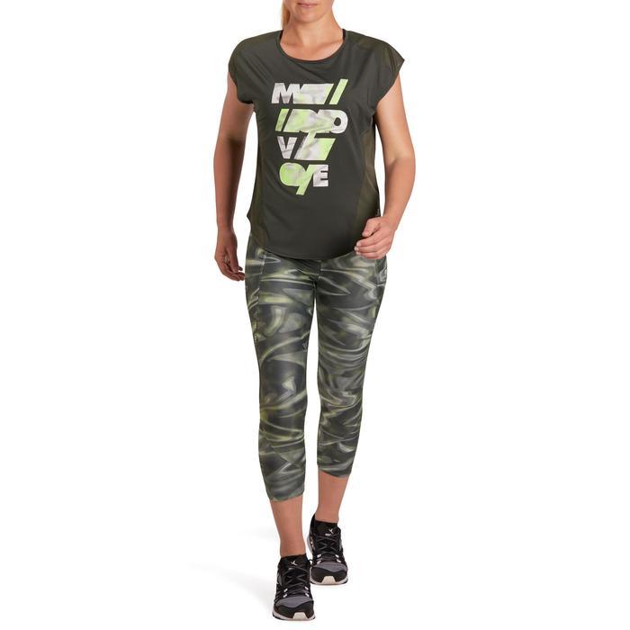 T-shirt loose fitness cardio femme avec imprimés 120 Domyos - 1195703