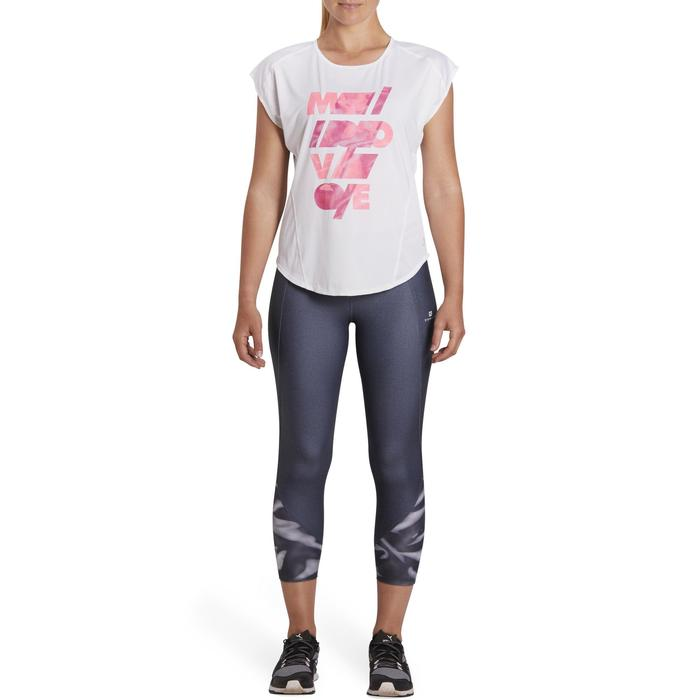T-shirt loose fitness cardio femme avec imprimés 120 Domyos - 1195718