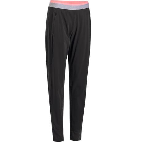 Pantalon cardio fitness femme noir 100  5eb23c21099