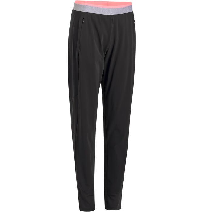 Pantalon regular fitness cardio-training femme noir 100 - 1195727