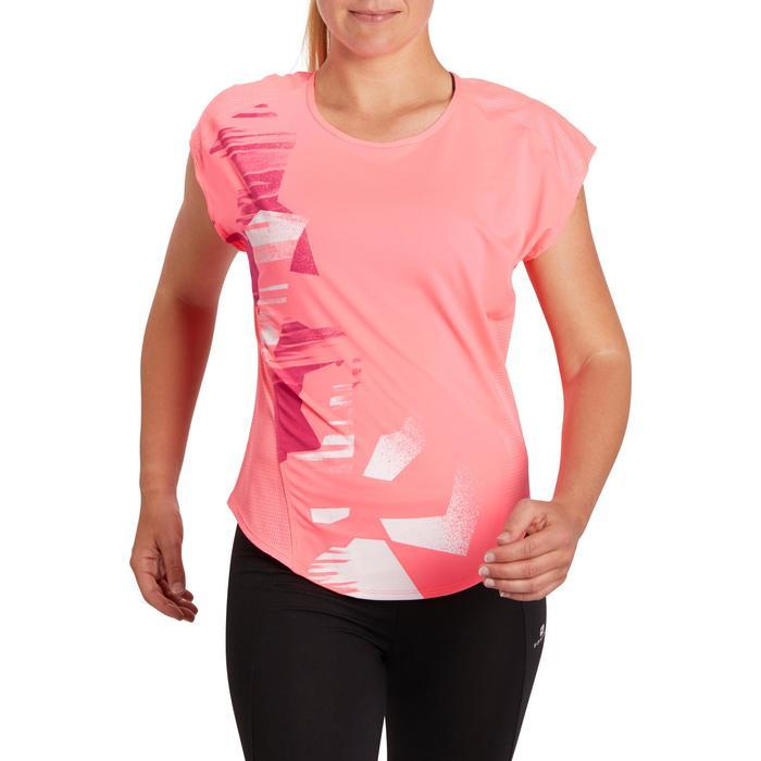 T-shirt loose fitness cardio femme avec imprimés 120 Domyos - 1195733
