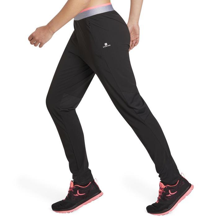 Cardiofitness broek 100 voor dames regular fit zwart