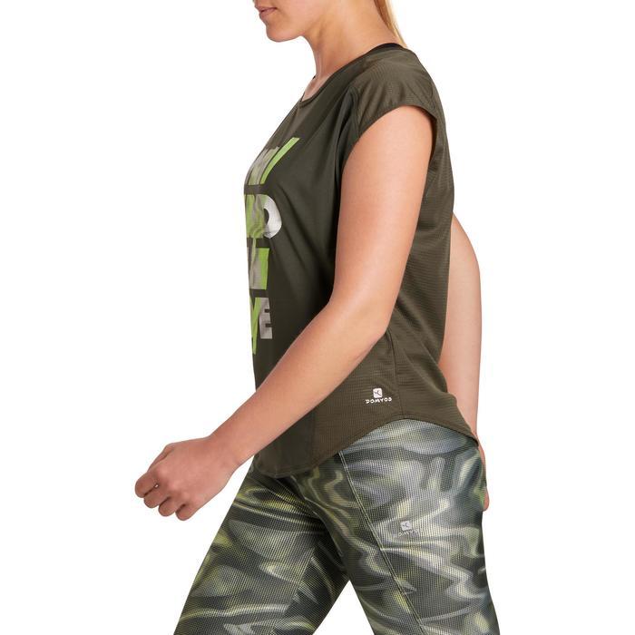 T-shirt loose fitness cardio femme avec imprimés 120 Domyos - 1195744
