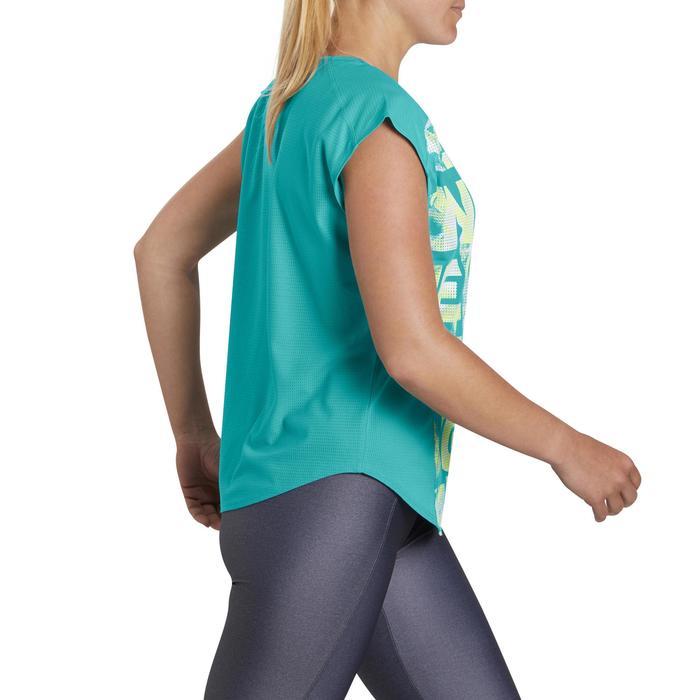 Camiseta amplia fitness cardio mujer azul Energy