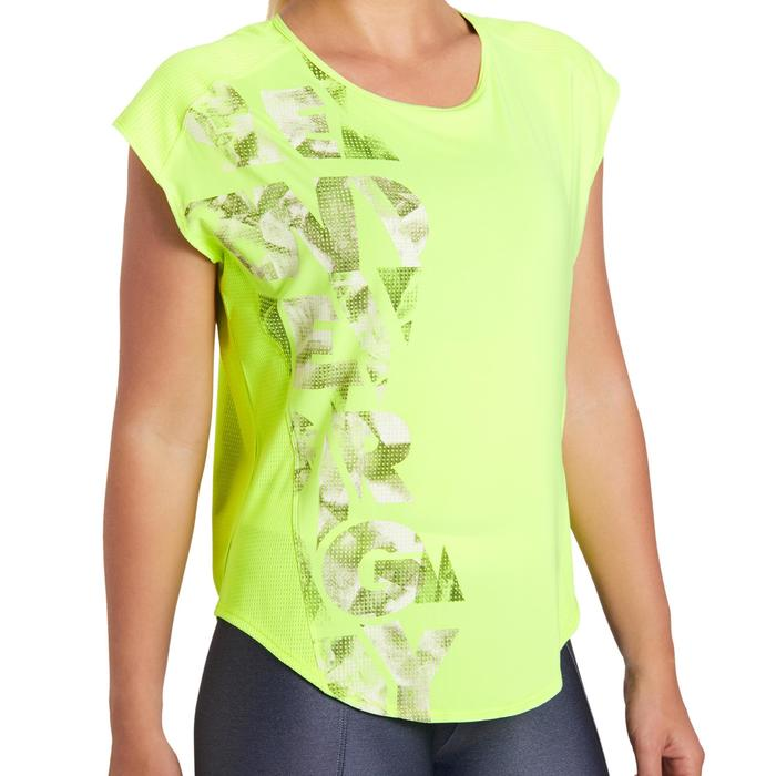 T-shirt loose fitness cardio femme avec imprimés 120 Domyos - 1195808