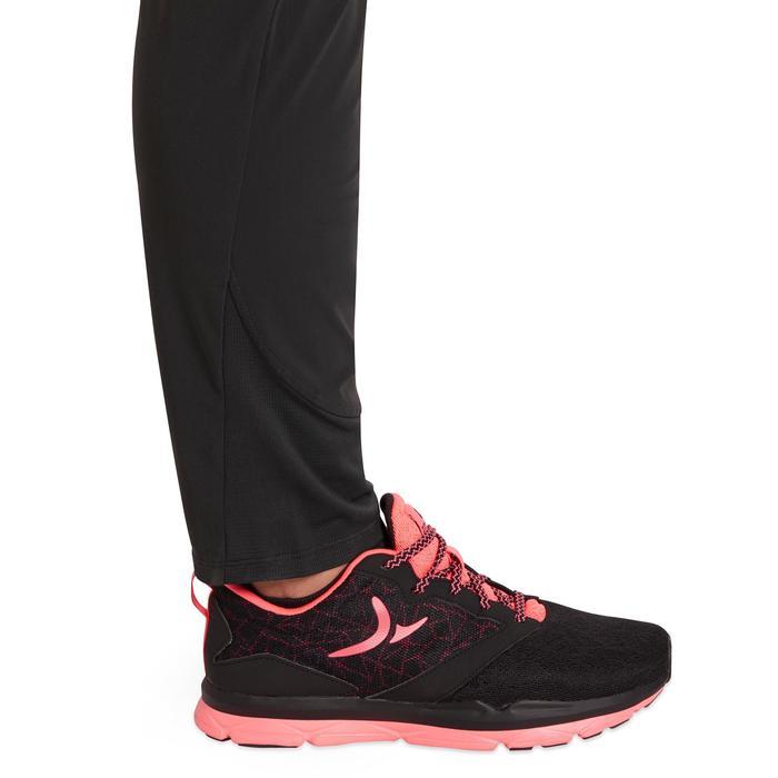 Pantalon regular fitness cardio-training femme noir 100 - 1195809
