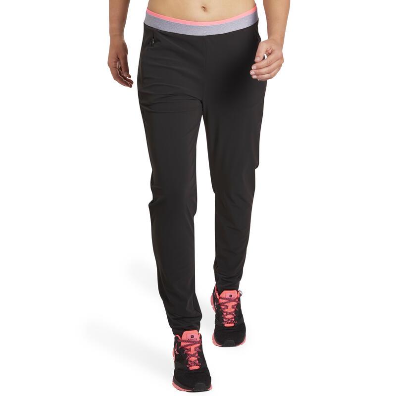 Pantalón cardio fitness mujer negro 100  1bc64e1bc821