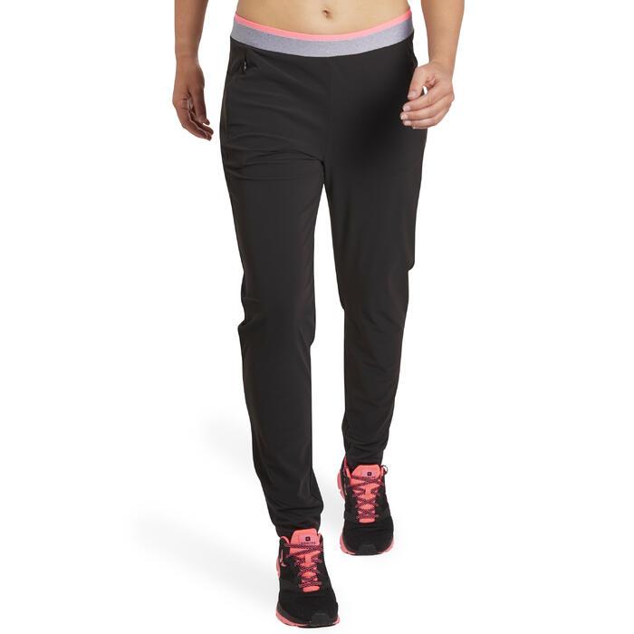 女款有氧健身長褲100-黑色