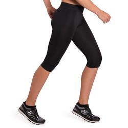 Mallas Corsario Fitness Cardio Domyos 100 Mujer Negro