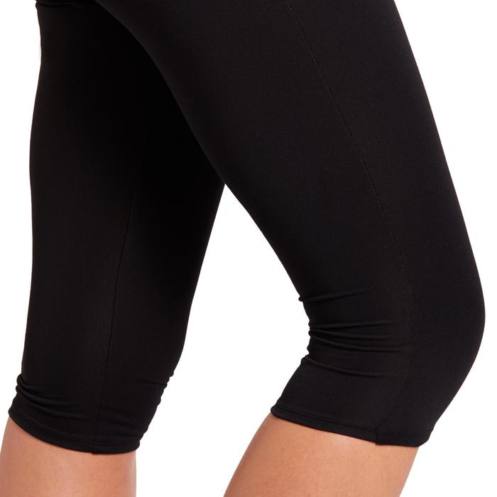 100 Women's Cardio Fitness Cropped Bottoms - Black - 1195926