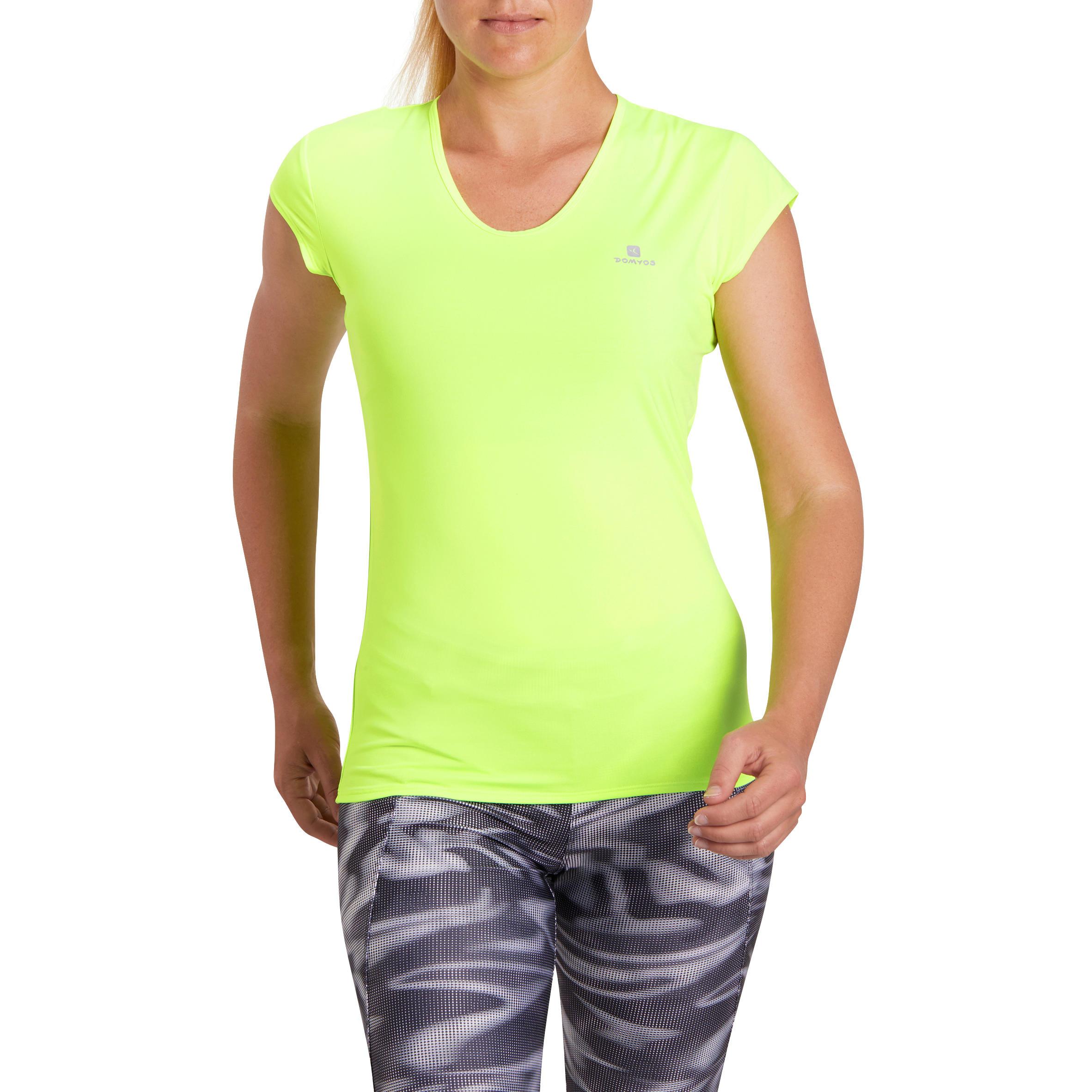 Domyos Dames T - shirt Energy voor cardiofitness