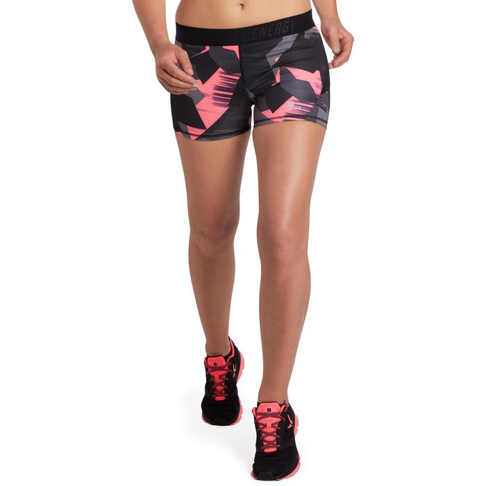 500 Women's Cardio Fitness Shorts - Pink Tropical Print - 1196009
