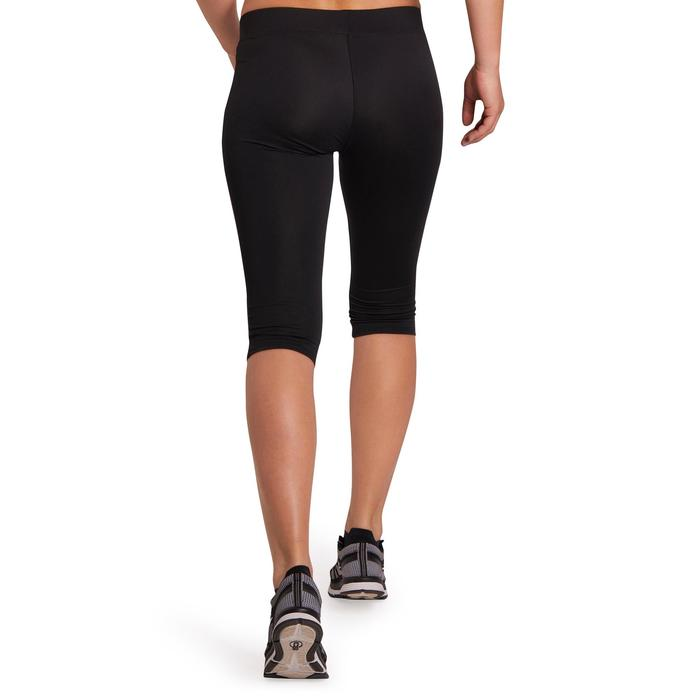 100 Women's Cardio Fitness Cropped Bottoms - Black - 1196010