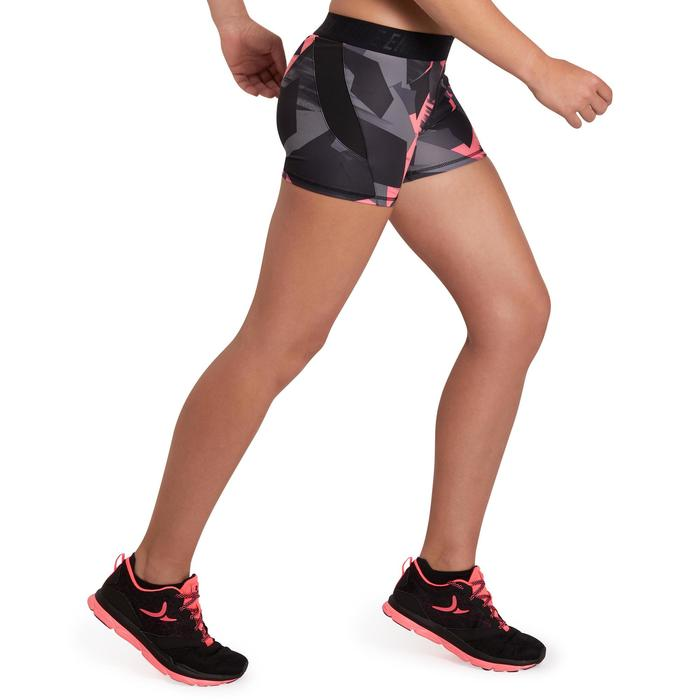 500 Women's Cardio Fitness Shorts - Pink Tropical Print - 1196055