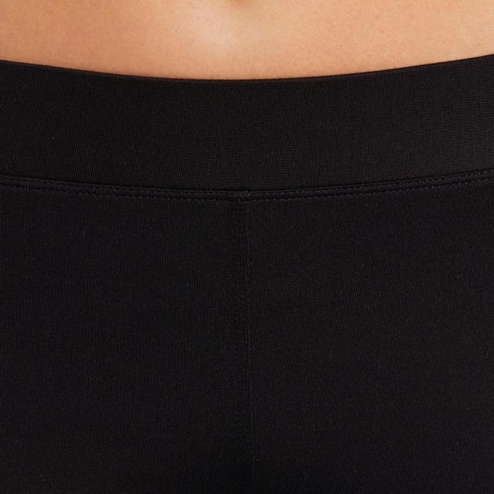 100 Women's Cardio Fitness Cropped Bottoms - Black - 1196083