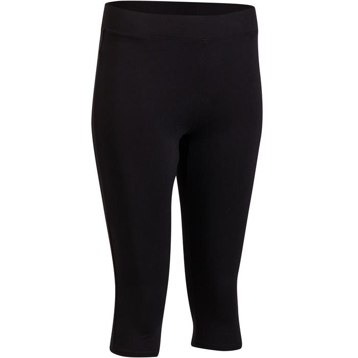 100 Women's Cardio Fitness Cropped Bottoms - Black - 1196111