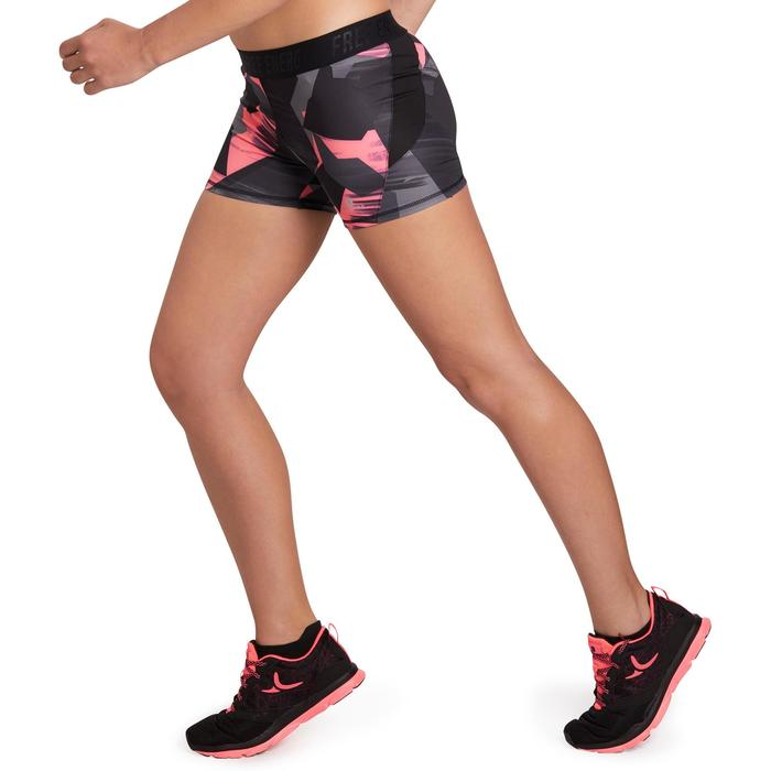 Energy+ 女性有氧健身運動短褲 - 粉紅/黑色圖形