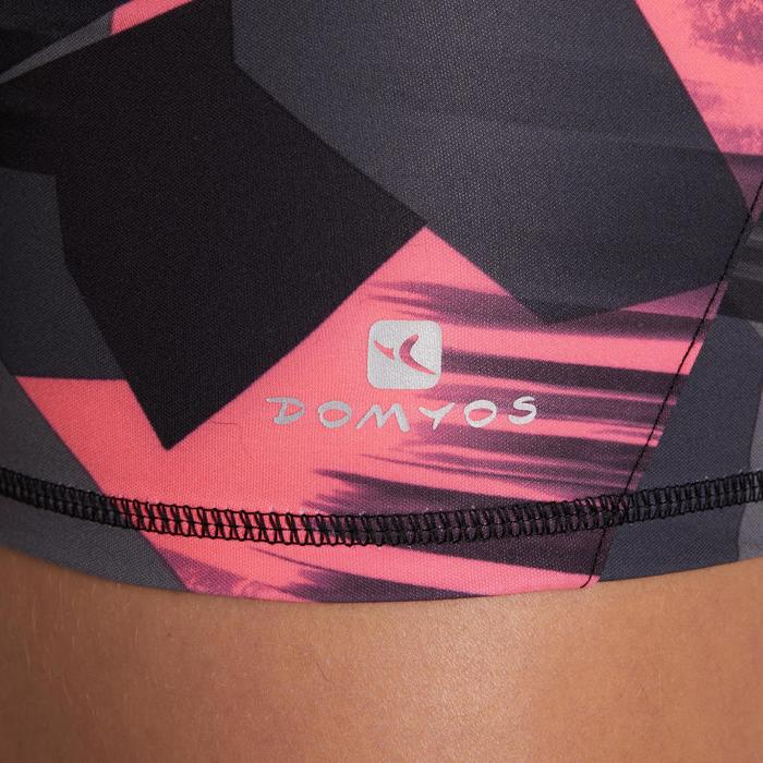 500 Women's Cardio Fitness Shorts - Pink Tropical Print - 1196138