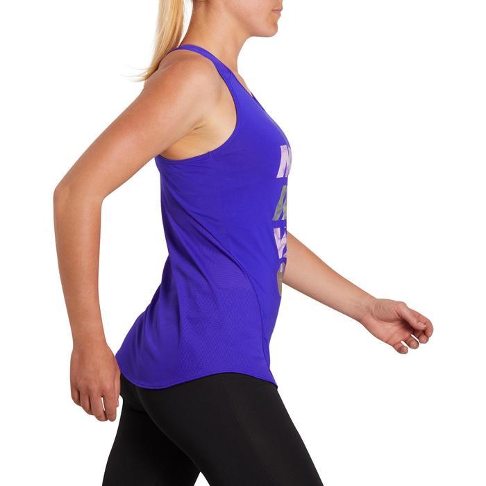 Damestop Energy voor cardiofitness donkerblauw