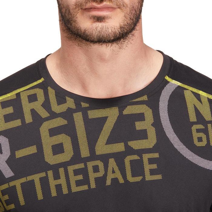 T-shirt fitness cardio homme noir imprimé FTS 120 - 1196154