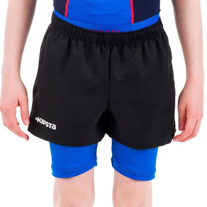 Sous short protection rugby enfant bleu