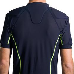 成人款橄欖球肩胸墊R100-軍藍色/黃色