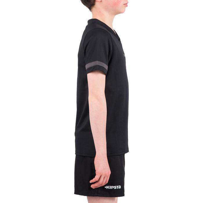 Camiseta de Rugby Kipsta 100 niños negro