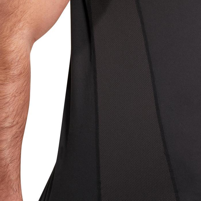T-shirt fitness cardio homme noir imprimé FTS 120 - 1196233