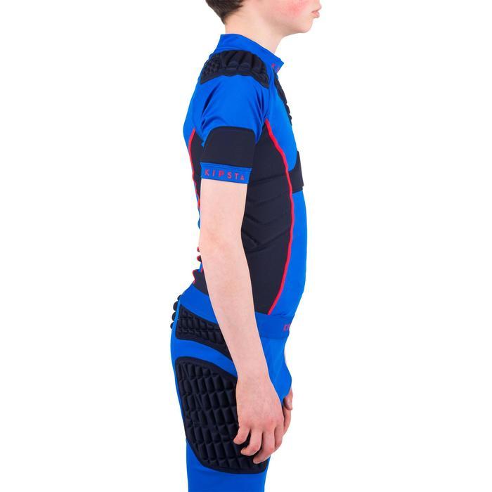 Epaulière rugby enfant Full H 500 bleu