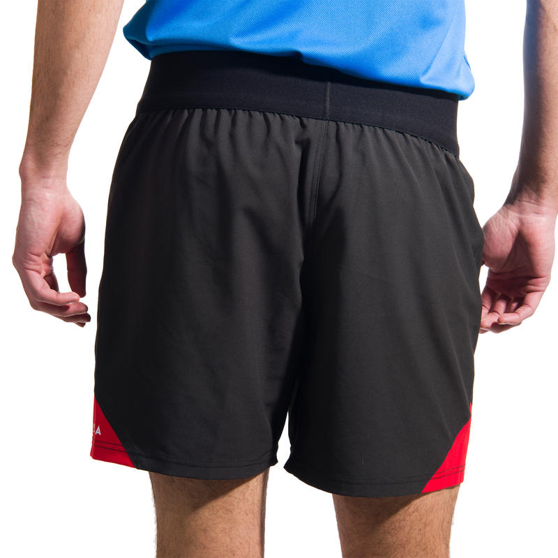 Men's Rugby Shorts R500 - Black/Red