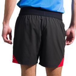 Short de rugby homme R500 noir rouge
