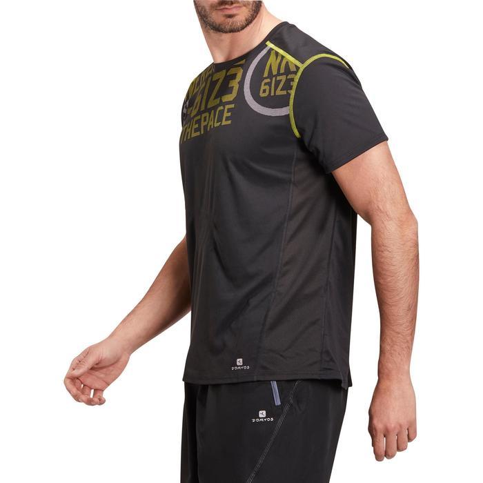 T-shirt fitness cardio homme noir imprimé FTS 120 - 1196314