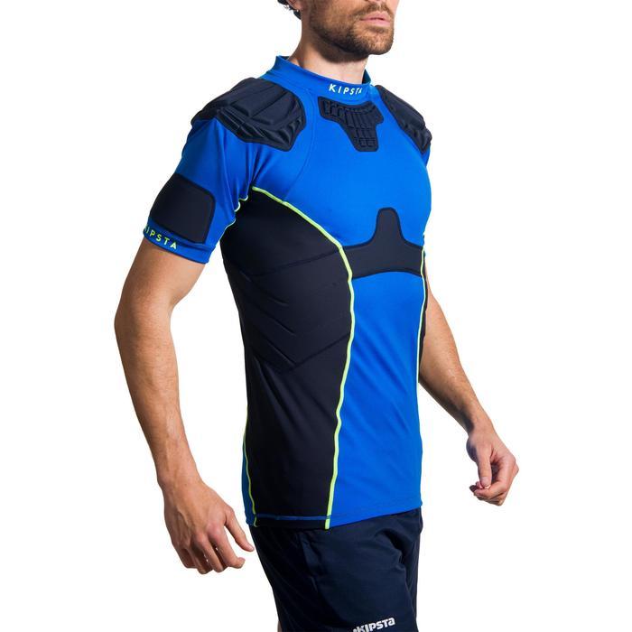 Hombrera de rugby adulto R500 azul